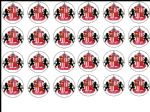 24 x Sunderland FC Rice Wafer Paper Cake Bun Toppers New